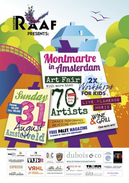 Expositie op Montmatre in Amsterdam